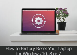 TechSaaz - how to factory reset a laptop