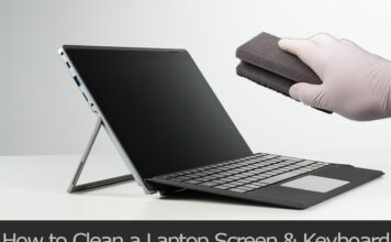 TechSaaz - how to clean laptop screen