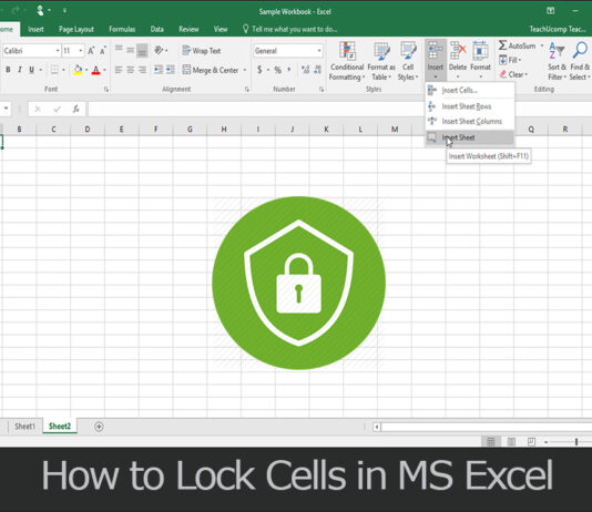 TechSaaz - how to lock cell in excel