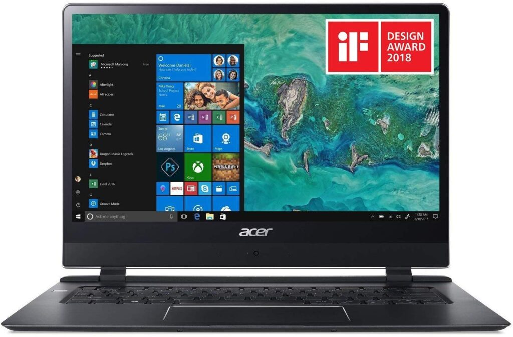 Acer Swift 7 best gaming laptop for college